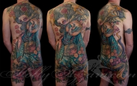 Out of this world full back tattoo by Holly Azzara!