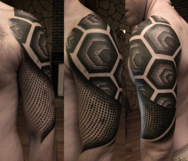 All black tattoo by Alex Arnautov