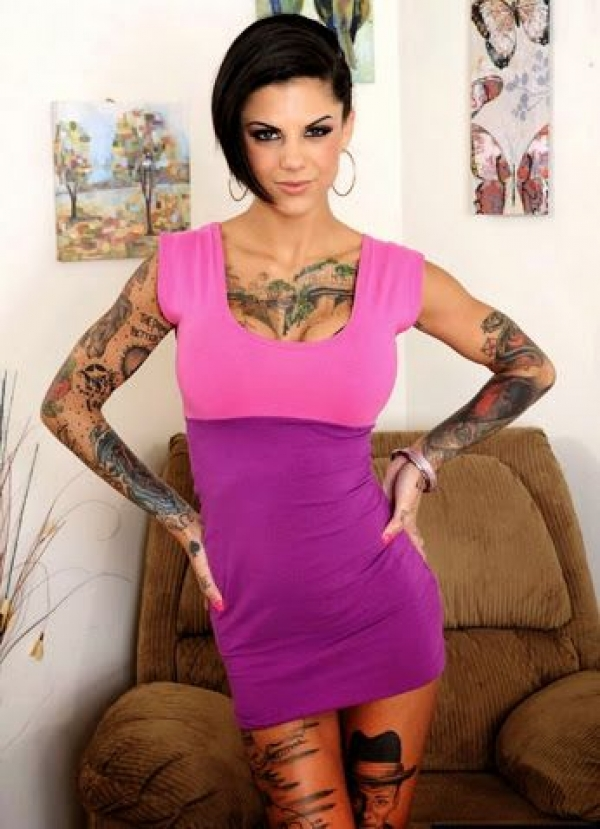 Tattoed goddess Bonnie Rotten