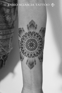 Dotwork mandala star by Fabio Sciascia