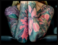 Floral sleeves by Colin Jones