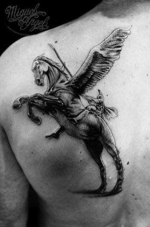 Mythological horse by Miguel Angel Tattoo
