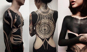 Amazing blackwork by Chester Lee