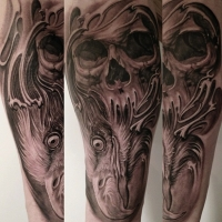 Great skull work by Jose Perez Jr.
