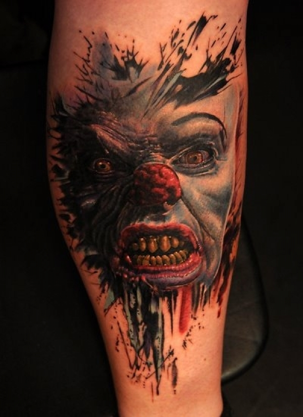 Evil clown from IT by Andy Engel