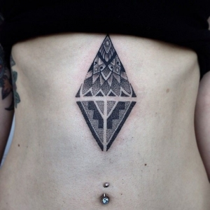 Dotwork diamond by Michael E. Bennett