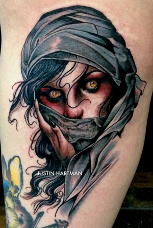 Mystery woman portrait by Justin Hartman