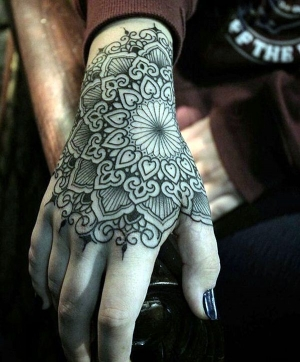 Beautiful mandala wrist!