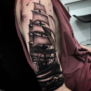 Galleon ship by Drew Apicture