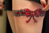 Thigh Red Ribbon
