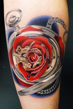 Pocket watch rose by Andres Acosta