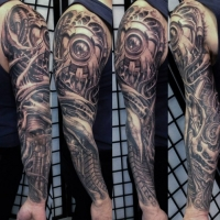 Love this biomechanical sleeve by Eric De L'etoile!
