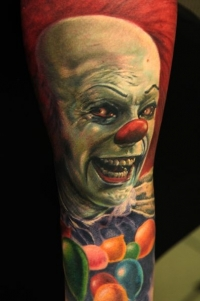 Scary clown by Andy Engel