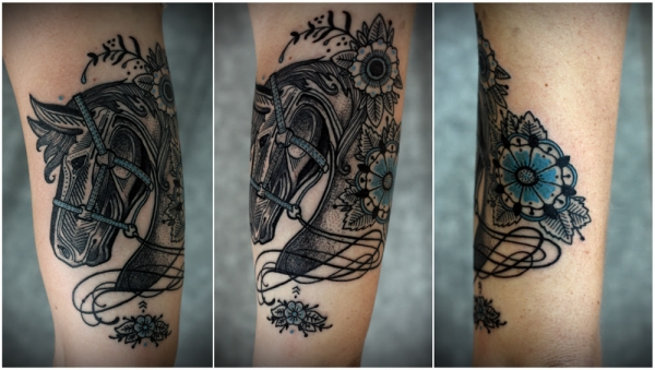 Dotwork horse by David Hale