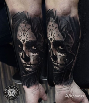 All black Day of the dead by AD Pancho