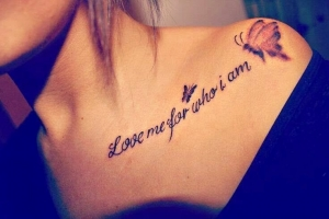 Love me for who I am quote...