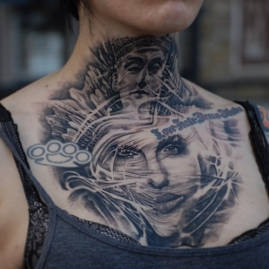 Neck chest portrait by Matthew James