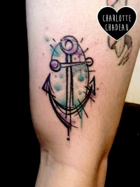 Watercolor anchor by Charlotte Chadeau