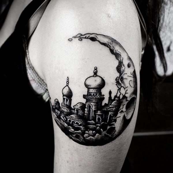 What about a moon city tattoo!
