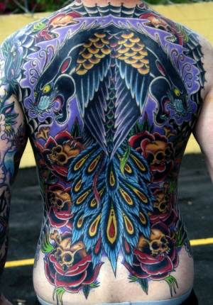 Amazing back piece by Aaron Coleman