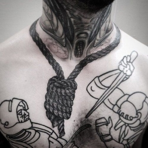 Hanged by the neck tattoo!