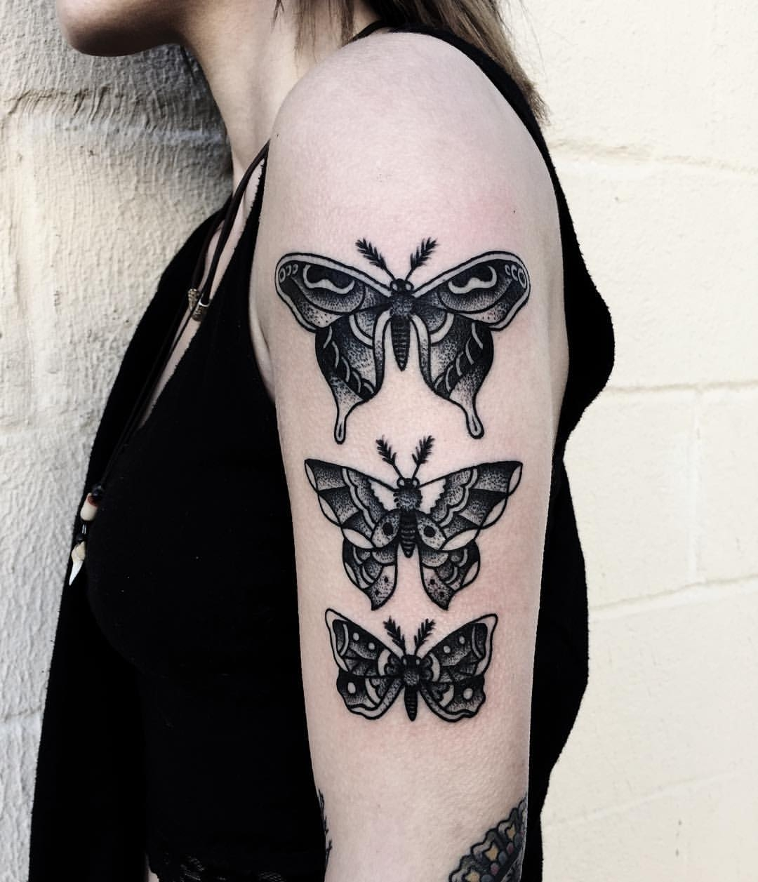 Dotwork and blackwork butterflies by Mike Adams