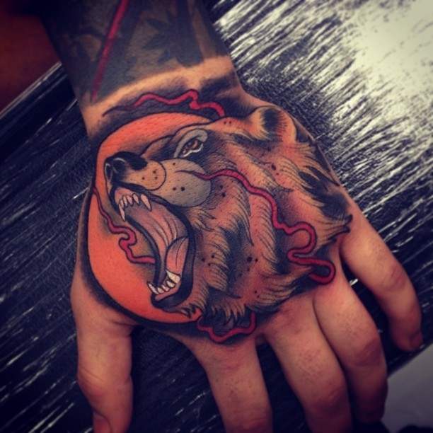Bear hand by Tom Bartley