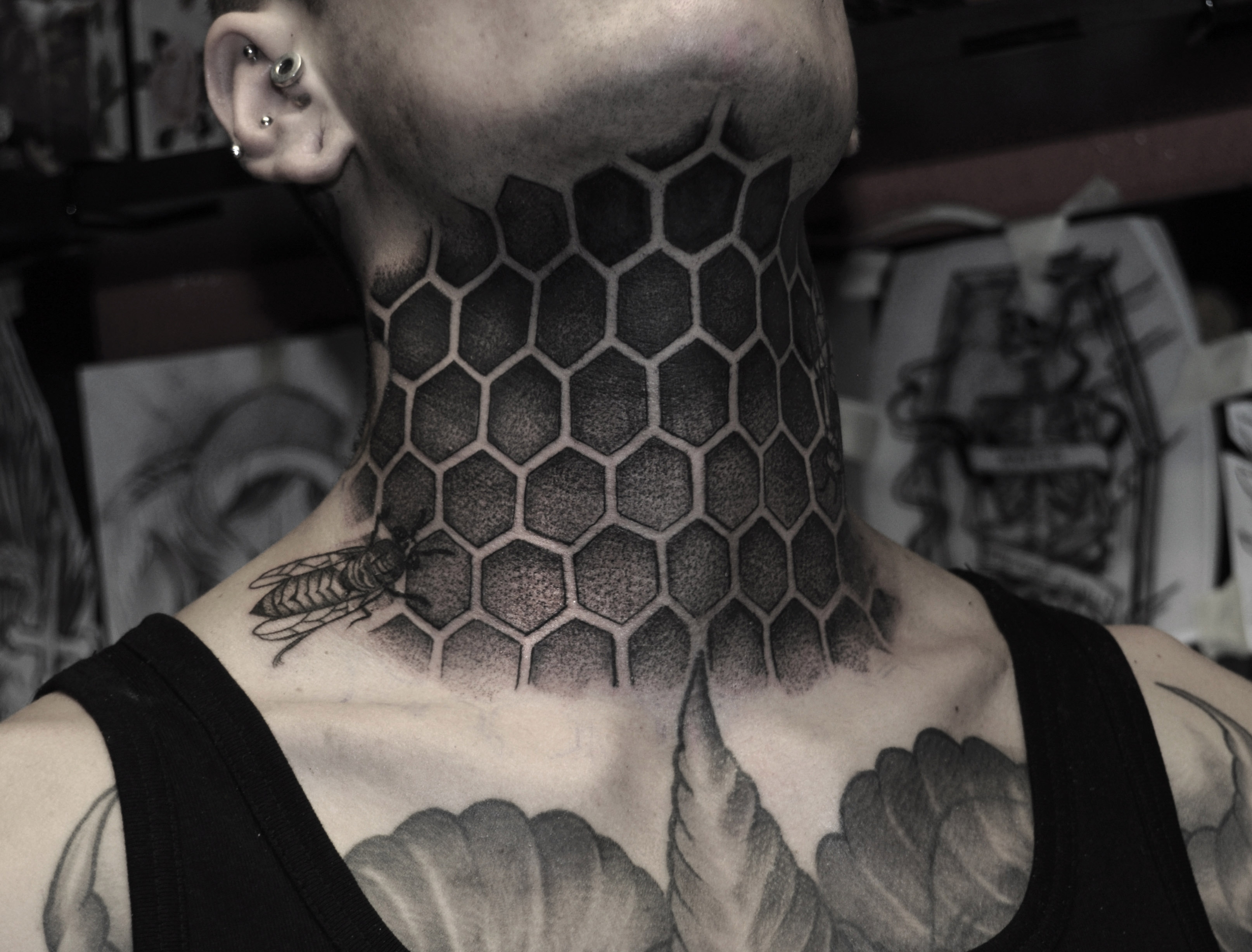 Dotwork Bee nest by Robert Borbas