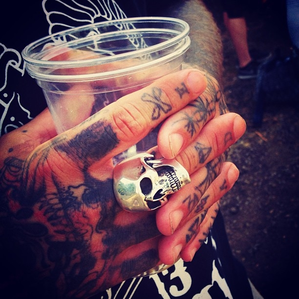 Drinks, a cool ring, and tattoos...