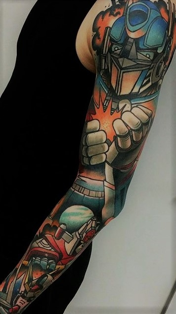 Awesome Optimus Prime sleeve!