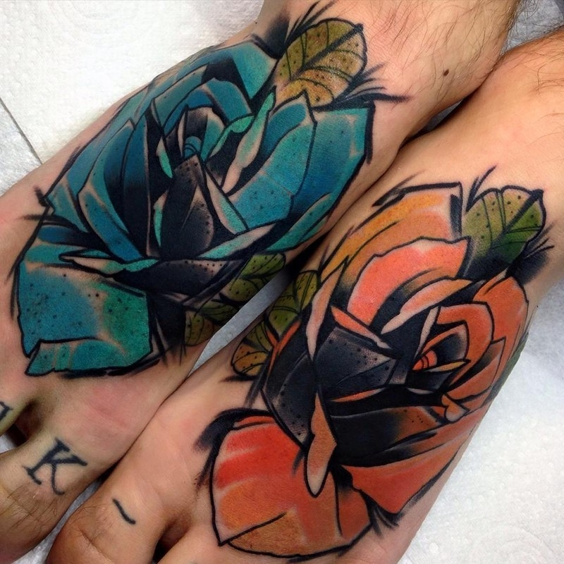 Feet roses by Phil Wilkinson