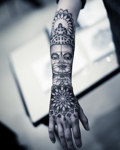 Unique mandala sleeve by Dillon Forte