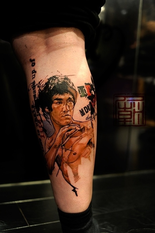 Bruce Lee by Wang of Tattoo Temple
