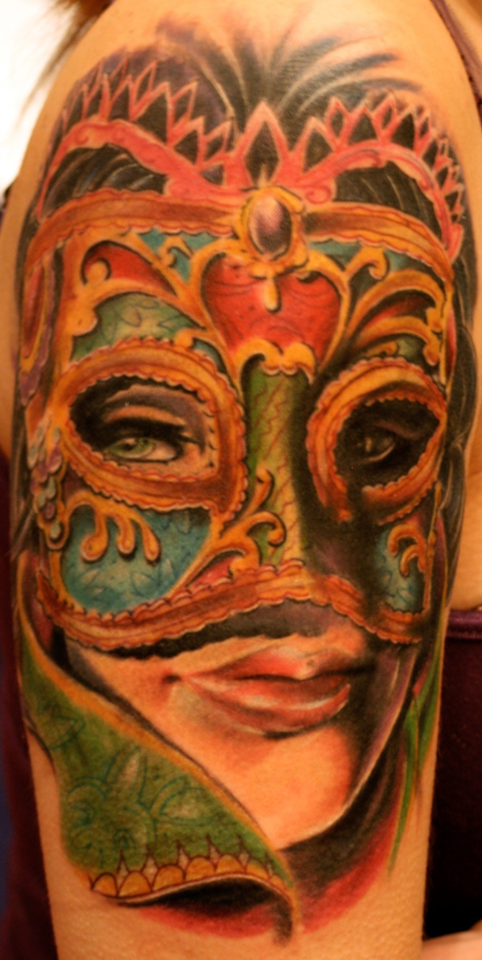 Masquerade party tattoo by John Montgomery