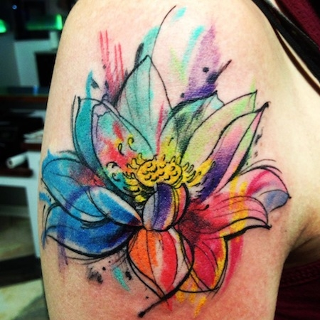 Looking for cool flower ideas? Watercolor!