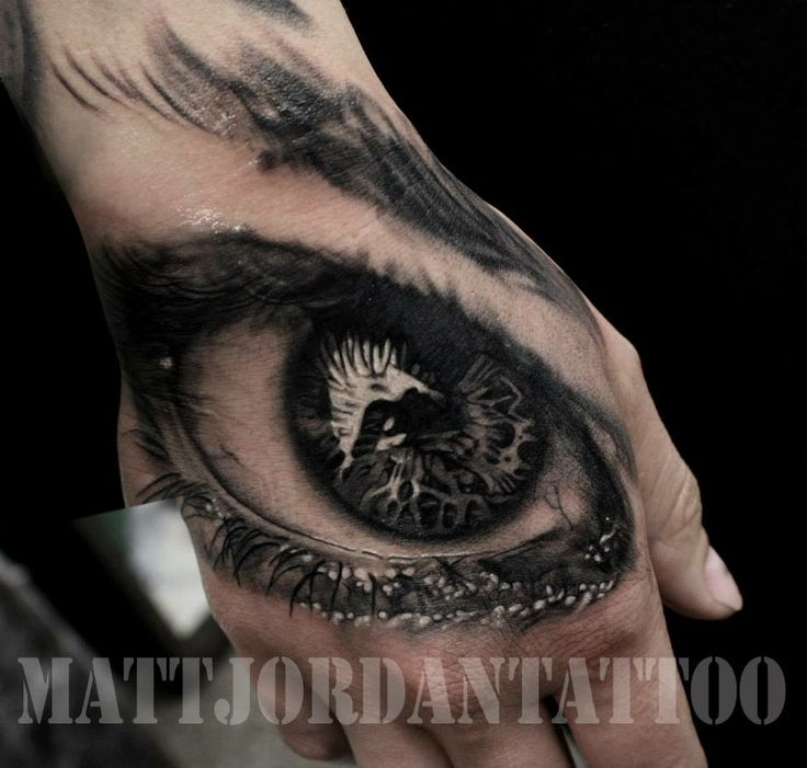 Black and gray eye by Matt Jordan