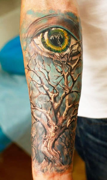 An eye of time? Inked Iwan Yug.