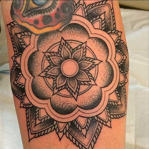 Mandala flower by Jason Monroe