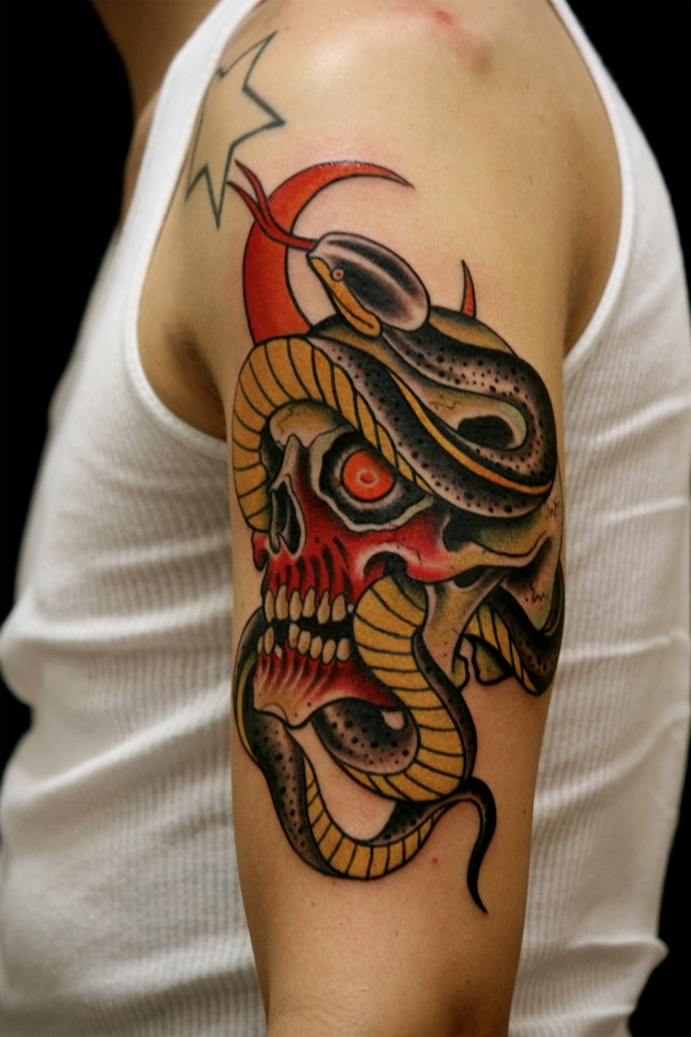 Awesome skull n snake by Zack Spurlock