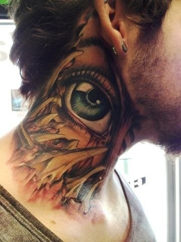 An eye neck tattoo idea...