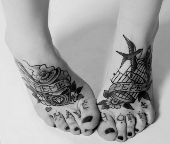 Cool feet tattoos