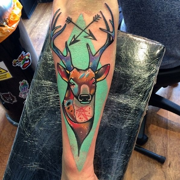 Cubist style deer by Andrew Marsh
