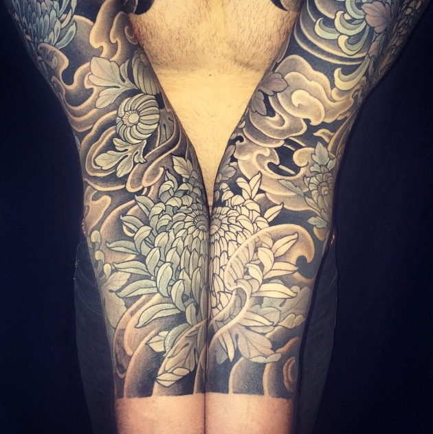 Floral sleeve by Japanese artist Miyazo