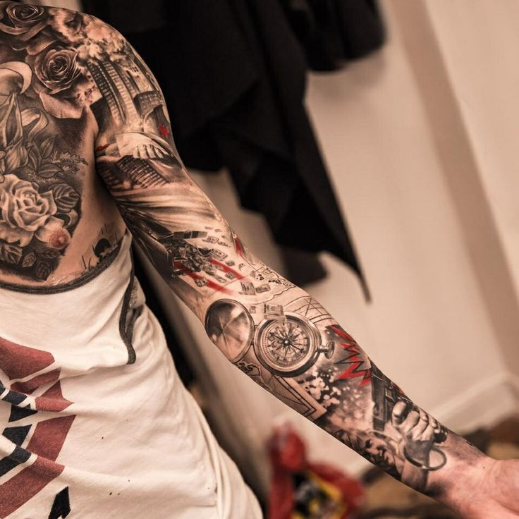 Super cool sleeve tattoo