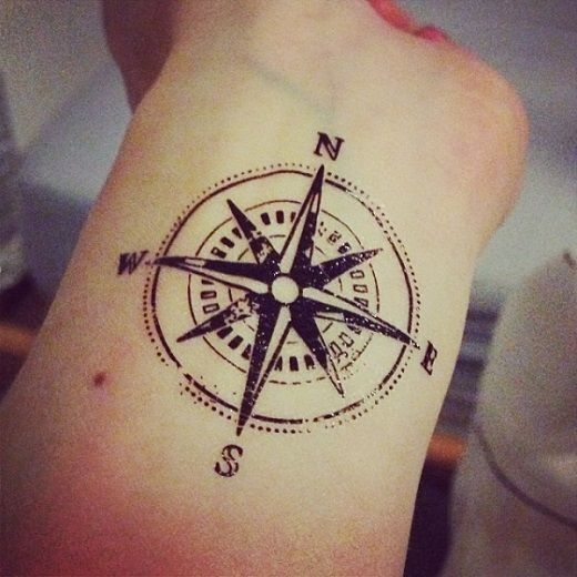 North star wrist tattoo