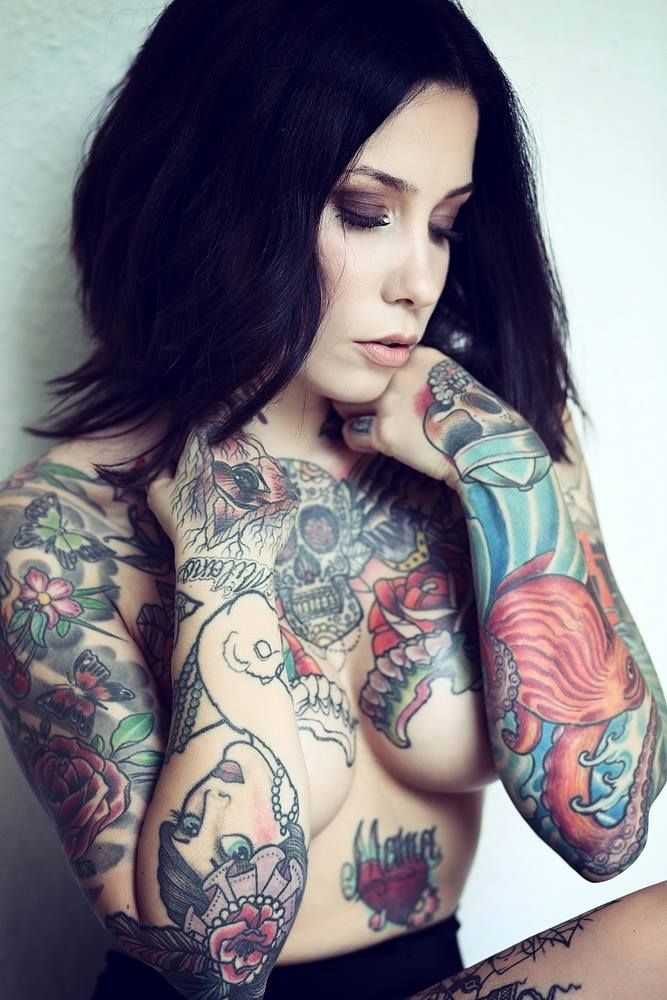Hot tattooed model