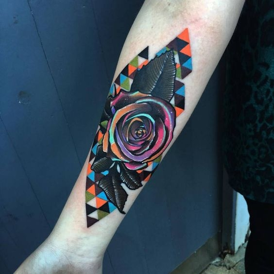 Cubist rose by Andrew Marsh