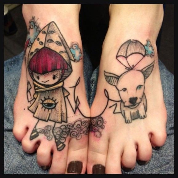 Adorable feet tattoos