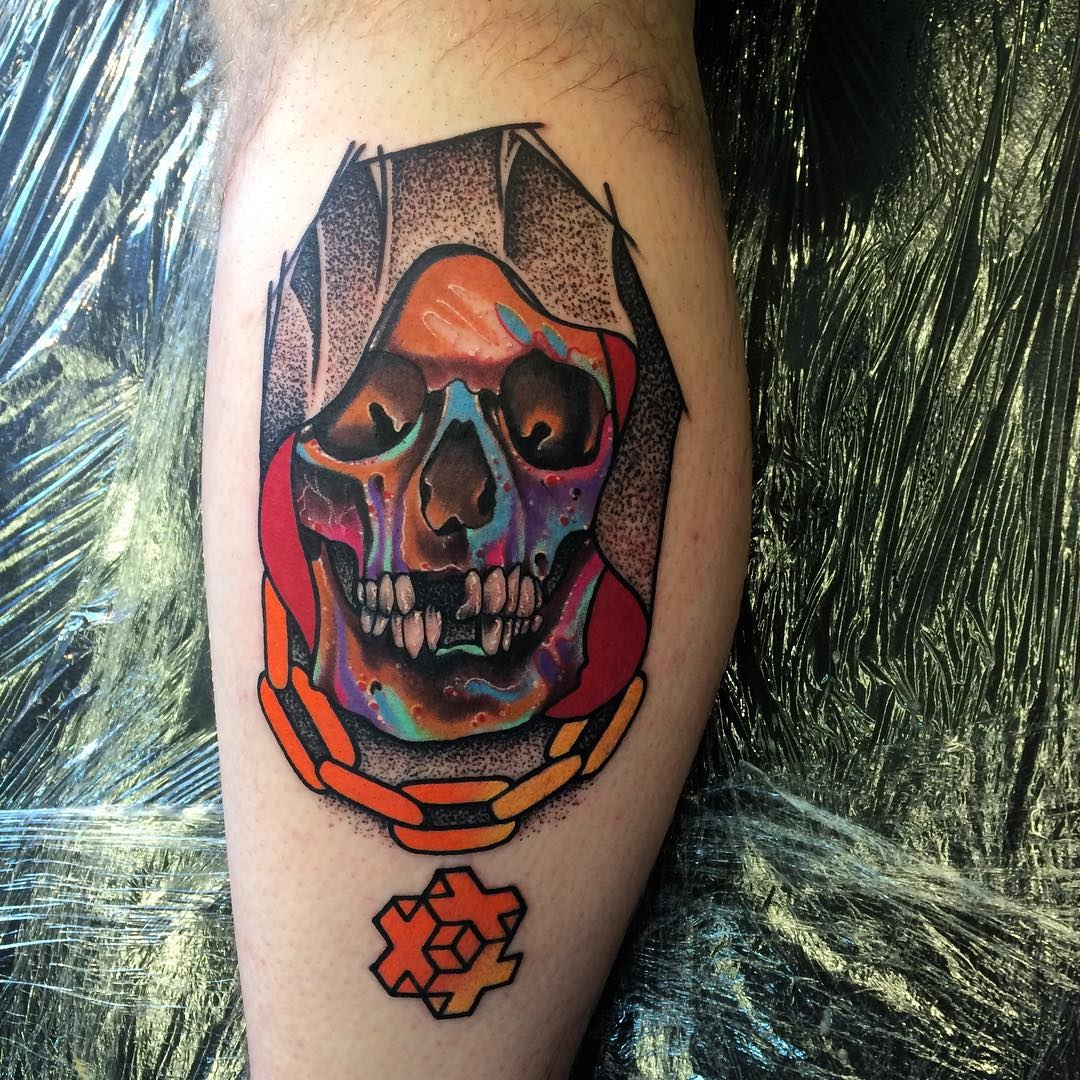 Multicolor skull by Andrew Marsh