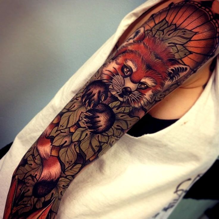 Stunning fox sleeve by Tom Bartley